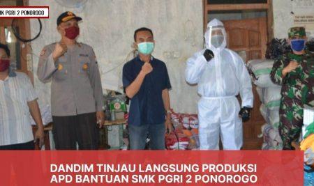 Kodim Siap Kawal Distribusi 700 APD Buatan SMK PGRI 2 Ponorogo