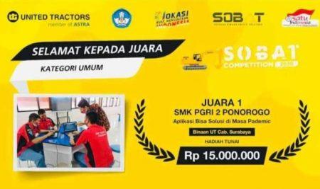 SMK PGRI 2 Ponorogo Raih 3 Gelar Juara Inovasi Tingkat Nasional 2020